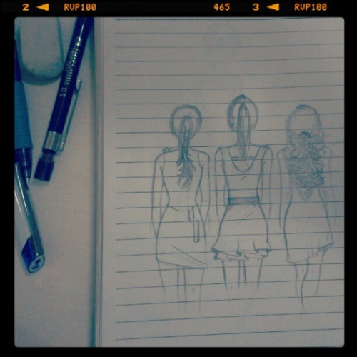 Behind your back sketch #sketch #drawing #freehand #pencile #fashion #dress #girl #gitls #mysketch #mystyle #mine  (Taken with Instagram)