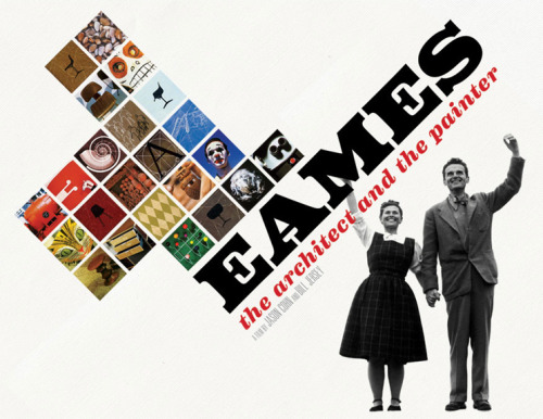 "Not only did I not realize that Eames was actually two people-a vivacious husband and wife design team- I also didn't realize it was spelled E-A-M-E-S. I always figured Eames was some weird French expatriate who's name was spelled, like, Hemerez or something. I thought this because I am not the type of person for whom the phrase ""very important chair"" rolls off the tongue freely, without irony. Also because I have no understanding of how the French language works. I have been vaguely familiar with Eames for a while because I am the only person in my life who feels this way. Literally. Even my seventeen-year-old brother gets giddy at the mention of an estate sale and has spent his high school career trying to amass a rug collection. It's not that I don't care, or that I dream of being surrounded in trash. I don't want to live in a boring white walled apartment with no art sitting in chairs from Wal-mart. It's just that when I move past the phase of casually admiring a piece decorative art to analyzing it, I get the urge to jump off a low hipped roof. The fact is that these are luxury items, designed for and by a certain class of people, like it or not, and I just can't get myself to worship furniture. Even if it's extraordinary. Even if I want it.  And absolutely no one agrees with me, and that's okay.  But anyway, Charles and Ray Eames were basically the coolest people who ever lived. I don't know anyone who wouldn't want to have relationship these two had at the beginning of their marriage. They started working together and falling in love at the same time, equal partners in love and work. But of course the world kind of treated Ray like shit, because the bad '50's people couldn't comprehend a creative partnership like theirs. There is a clip in this movie that will make your skin crawl, in which Charles and Ray are being interviewed about their business, and she has to stand BEHIND her husband as the interviewer tries to grapple with the idea of a man and a woman sharing work. You can see the wheels turning in the (female) interviewers head before she comes to the conclusion that Ray is Charles' helper, she doesn't do any designing but she's still very important. Here is one of the most important designers of the 20th century being tarted up and presented as one of Santa's elves.  It's so fucking gross. I don't know if I'm going to flag this one as a favorite, that title is reserved for the true masterpieces: Scream 2, Scream 3, etc., but I do recommend it. It's good, it's pretty to look at, and it's inspiring. It's the Oprah.com of documentaries. Watch it!"