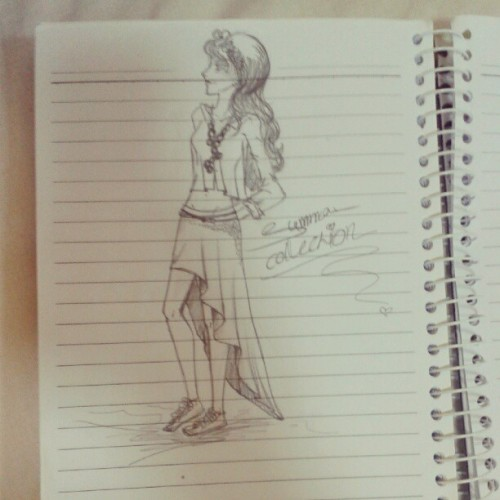 My fav #dress #mysketch #mystyle #myfashion #fashion #pencil #sketch #drawing #girl  (Taken with Instagram)