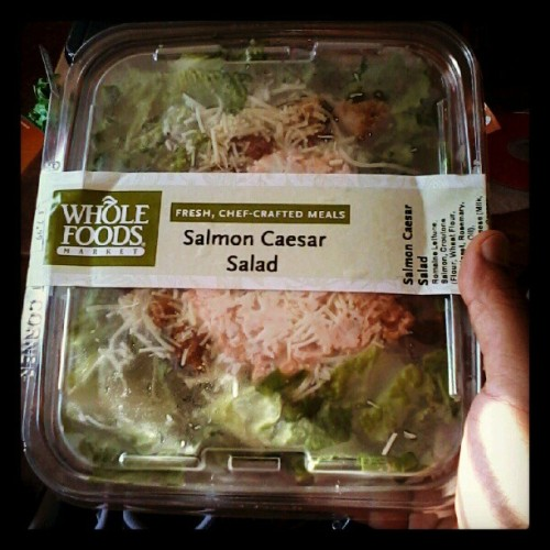 About to shove this #bougie ass #wholefoods salad in my facehole. (Taken with Instagram)