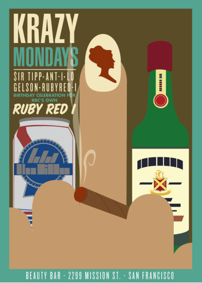 it's my fellow label mate, RUBY RED I's, birthday tonight! #krazymondays