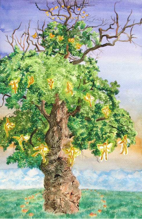 cumuluscastle:  The Dancing Tree watercolour July 2012