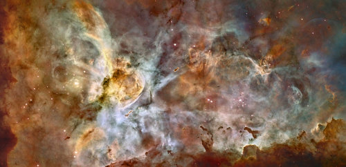lookingatthebigsky: Star Birth in the Carina Nebula (via Hubble)If we don't have dreams, what do we have?  And you're over there watching TV.