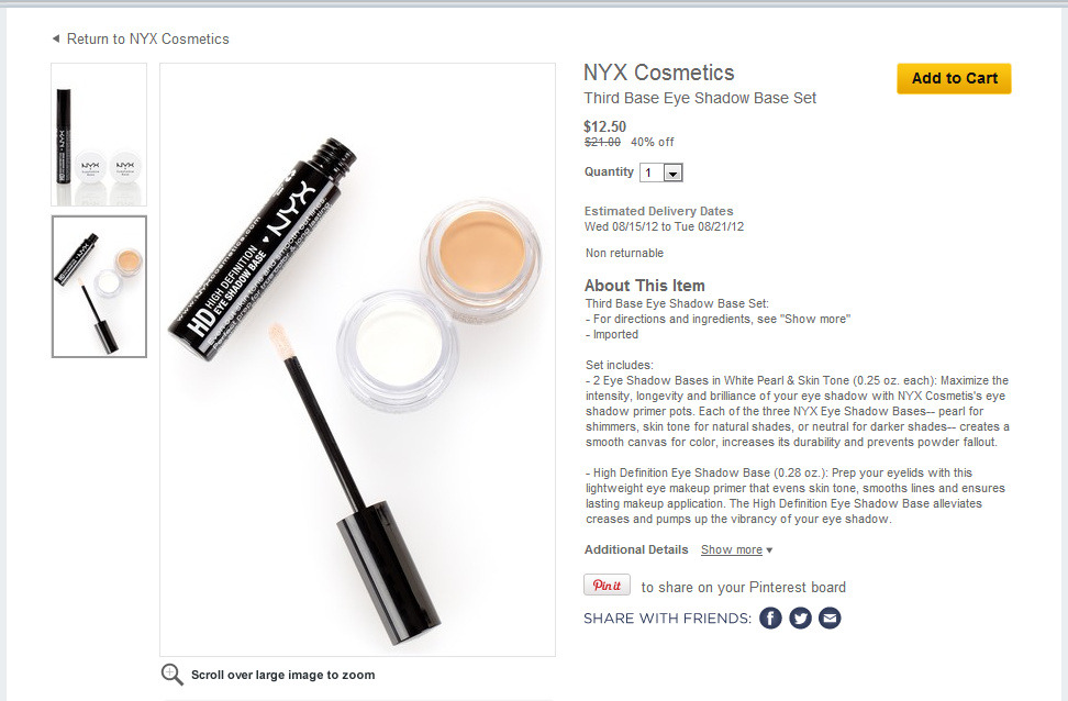 Hautelook is having a sale on NYX Cosmetics! I ordered this today! Click below to place an order! http://www.hautelook.com/short/3FAq4