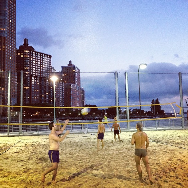 Yep, New York I love you…  (Taken with Instagram at Pier 25 Beach Volleyball)