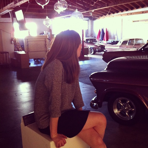 super intern, ariana, taking a break (Taken with Instagram at Classic Cars West)