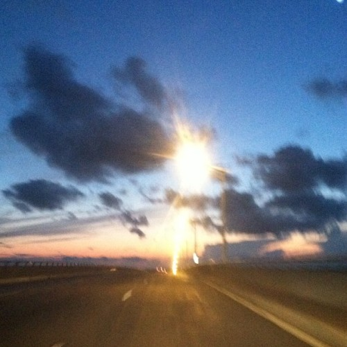 🚗💨 vroom vroom #nofilter #seasideheights #bridge #sunset #beautiful #clouds (Taken with Instagram)