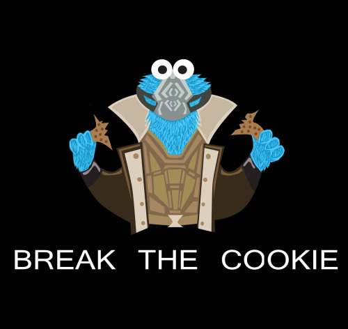 herochan:  Break the Cookie Shirt available for $21.47(USD) @Redbubble Created & submitted by Jose Armillas deviantART || Flickr || Tumblr