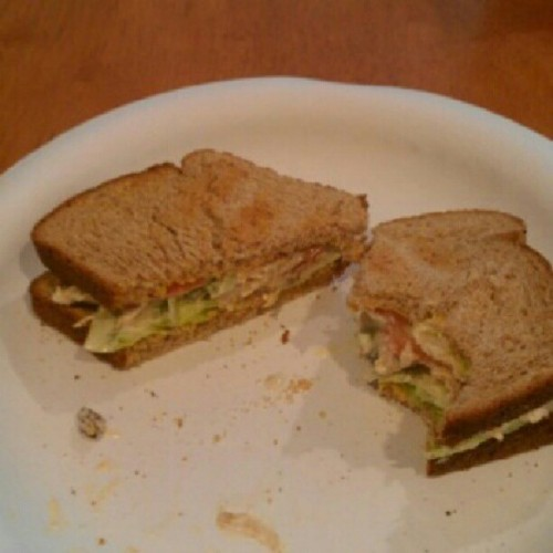 Homemade chicken salad sandwich!! (Taken with Instagram)