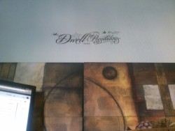 "STEAL! Found this for $1 and put it right above my desk. ""Dwell in Possibilities"" - Emily Dickinson"