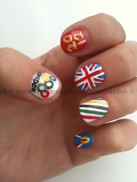 Who's watching the Olympics? Jemma G. creates Olympic nail art to celebrate the occasion!