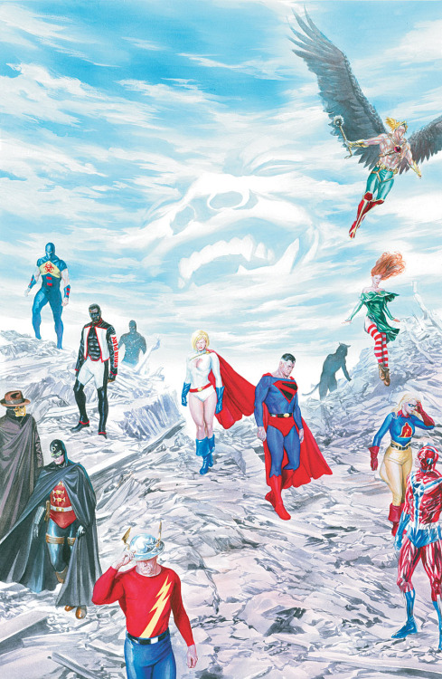 comicartappreciation:  Justice Society of America #14 // Alex Ross   The BEST supergroup