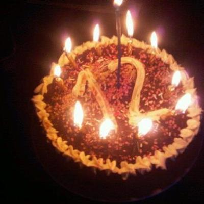 my birthday cake from my beautiful sister!<3<3<3
