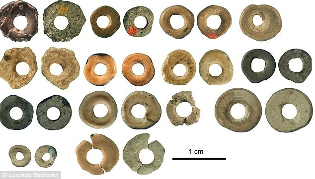 Ostrich eggshell beads from Border Cave, dated 44,856 - 41,010, show that humans were beginning to experiment with artResearch that could set humanity back 20,000 years: Ornaments and tools show that Modern Man emerged 44,000 years ago (much earlier than we thought)