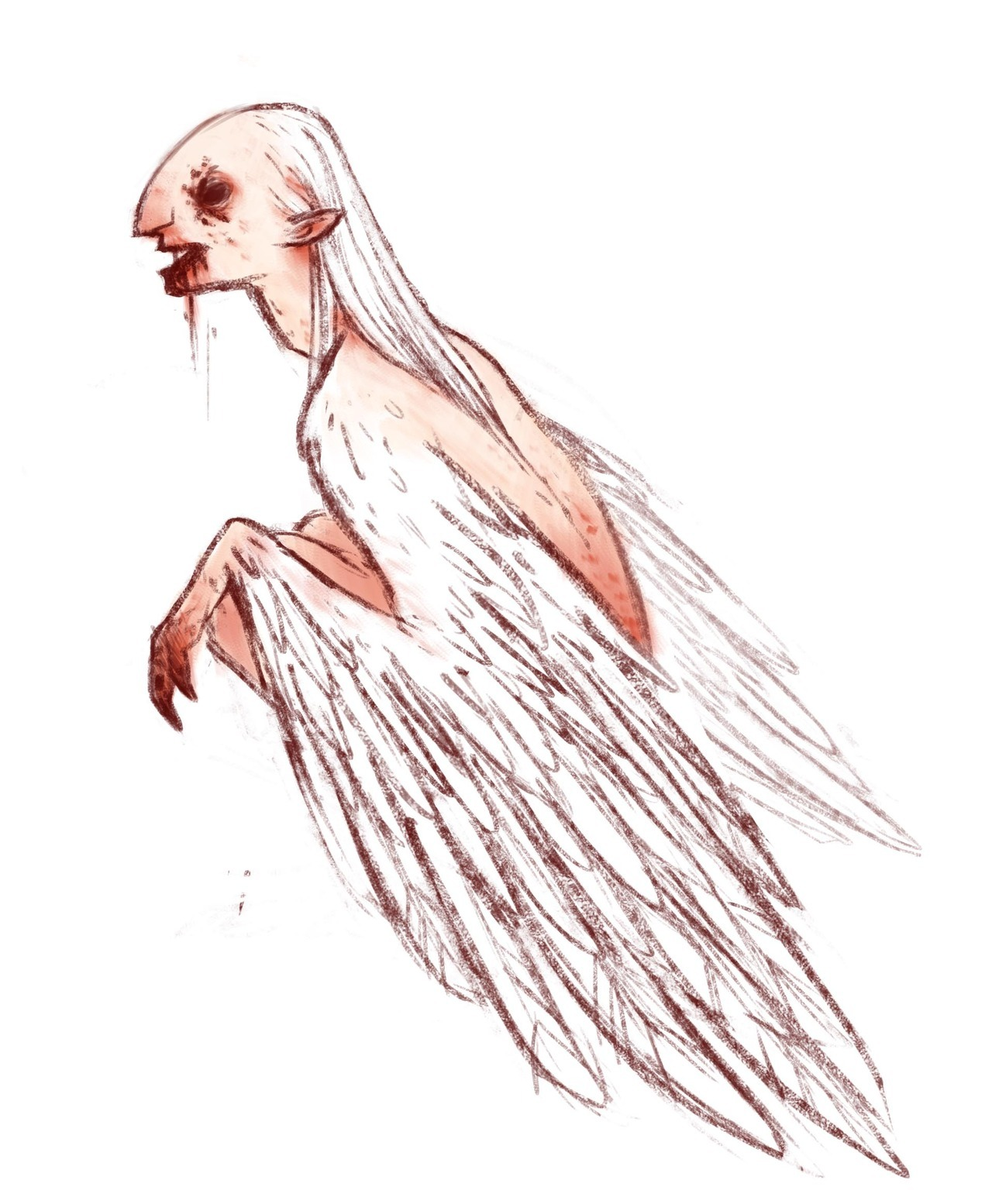 decided to jump on the bandwagon here's day 1: a harpy~