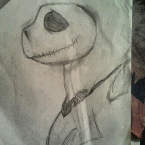 Jack Skellington (not finished) (Taken with Instagram)