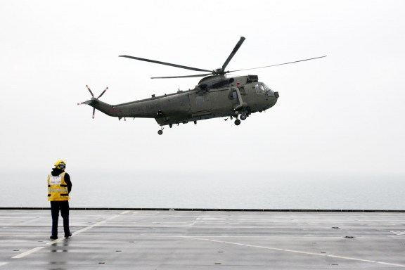 RAF Northolt also counts three Sea King helicopters in its fleet. If suspicious aircraft enter the no-fly zone, the military will first contact them by radio. The Typhoon and Sea King helicopters will then follow the aircraft until it leaves London. If the enemy planes do not comply, the RAF can then issue flares and fire lasers. As a last resort, they may shoot the planes down. Olympic Security: The Machinery Guarding London 2012