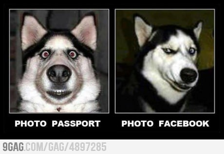 Passport photo and Facebook photo http://bit.ly/M72m6F
