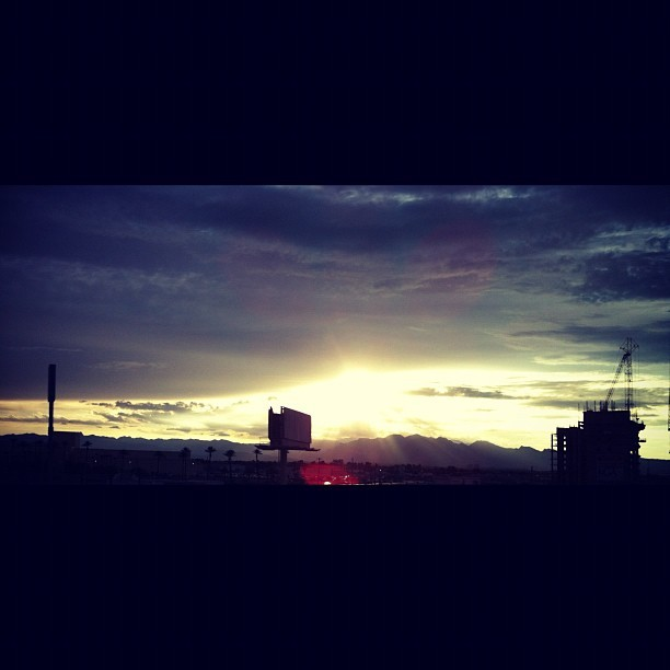 #Sunset #lv #clouds (Taken with Instagram)