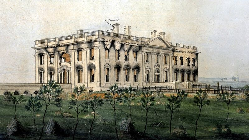 George Munger, The President's House (1814-1815)  The Burning of Washington in 1814 was an armed conflict during the War of 1812 between the United Kingdom of Great Britain and Ireland and the United States of America. On August 24, 1814, after defeating the Americans at the Battle of Bladensburg, a British force led by Major General Robert Ross occupied Washington, D.C. and set fire to many public buildings. The facilities of the U.S. government, including the White House and U.S. Capitol, were largely destroyed. This was the only time since the Revolutionary War that a foreign power captured and occupied the United States capital.
