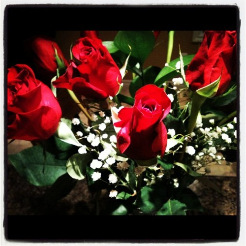 Thank you baby!! They are beautiful! Xox  (Taken with Instagram)