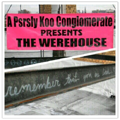 #PsrslyKooConglomerate presents @werehouse_apkc #NeoXL #remember that you are #loved #queens #longislandcity #newyork #NYC #rooftop #artshow  (Taken with Instagram)