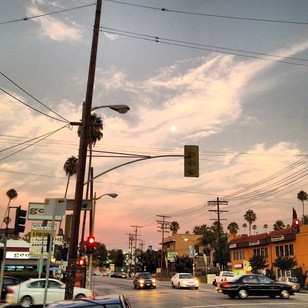 Sunset on Sunset. #sunset #summer #losangeles #photography #pink #hollywood  (Taken with Instagram)
