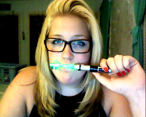 gonna go brush my teeth with my new lightsaber toothbrush.   and then watch Buffy on Netflix in the Hug till Rianna Facetime's me after work.