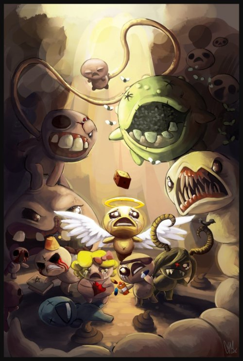 edmundmcmillen:  http://drmaniacal.deviantart.com/art/The-Binding-of-Isaac-317937128  Totally badass…