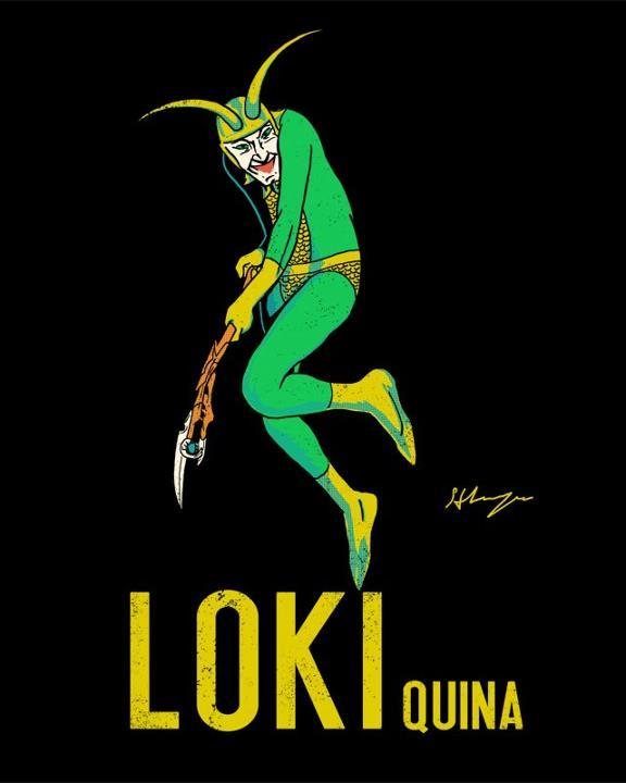 "Loki Quina by Hillary White / wytrab8 Shirts and stickers available at Redbubble, based on the original French advertisement ""Maurin Quina"" by Leonetto Cappiello. If it's all the same to you, I think I'll have that drink now! Artist: DeviantArt / Tumblr (via: ianbrooks)"