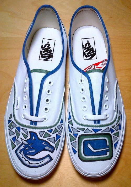 Vancouver Canucks Shoes! This is what we live for.