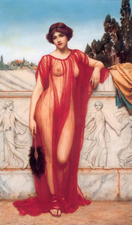suicideblonde:  Athenais (1908) by John William Godward