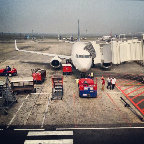 Get ready #aeroplane #aviation #instagram #preparation (Taken with Instagram)