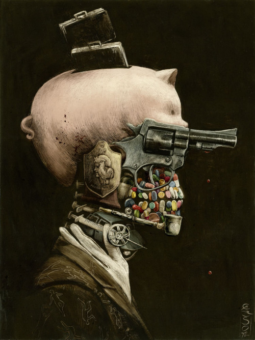 Portrait of Crime by Santiago Caruso via deviantART