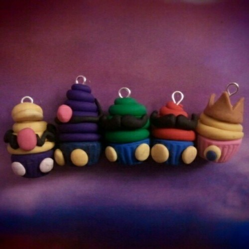 #Supermario #inspired #cupcakes #cupcake #polymerclay #polymer #clay #polymerclaycharm #polymerclaycharms #polymerclaycupcakes #polymerclayfood #marioppolymerclay #luigipploymerclay #supermariocupcakes #mario #luigi #peach #waluigi #kawaii #charms #Handmade  (Taken with Instagram)