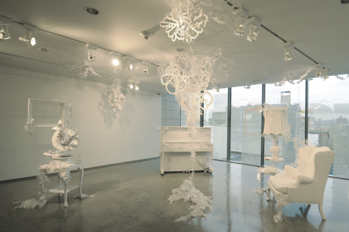 Paper cut installations by Michi Muzyka | on Tumblr