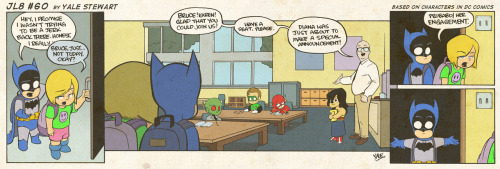 JL8 #60 by Yale Stewart Based on characters in DC Comics. Creative content © Yale Stewart. Like the Facebook page here!