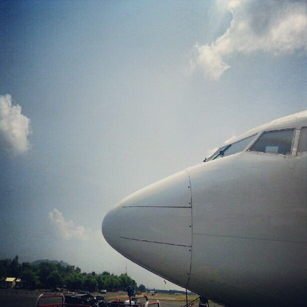 Aeroplane and his friend (sky) #aeroplane #aviation #instagram #instagood #instagrapher #hobby (Taken with Instagram)