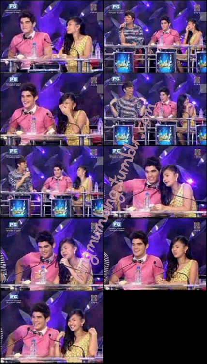 ningmumbing:  Ryan and Karen on It's Showtime. Day 2. P2