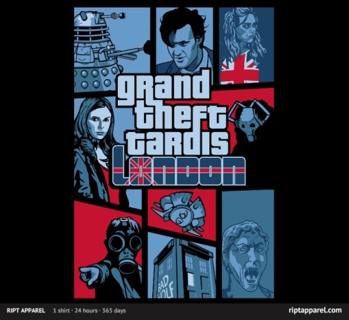 gamefreaksnz:  Grand Theft Tardis by nikholmes USD$10 for 24 hours only Follow the artist on Tumblr