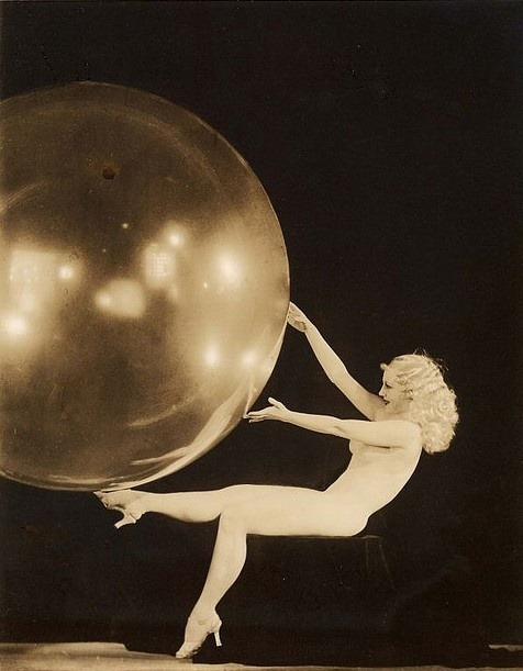 underthebubble:  wickedknickers:  Sally Rand by Alfred Cheney Johnston, 1933  Under the Bubble…