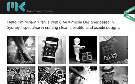 Check out my new responsive portfolio website at http://www.miriamkirsh.com