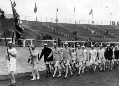 The British Team in the 1908 Olympics.