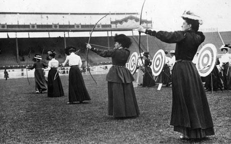 Archery in the 1908 London Olympics.