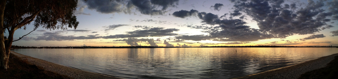 Jake's panorama of the sunset :)