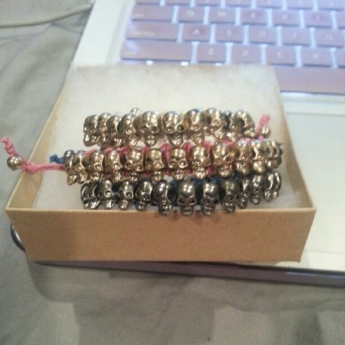 Newest skull goodies at etsy.com/shop/lesliealexx #skullbracelets #skulls (Taken with Instagram)