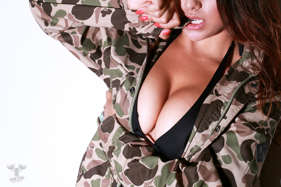 HUF FALL '12 WAXED HIGHLAND JACKET (CAMO) - NOW AVAILABLE HERE! Model: Ashley Brooke | Photo: Danny Steezy