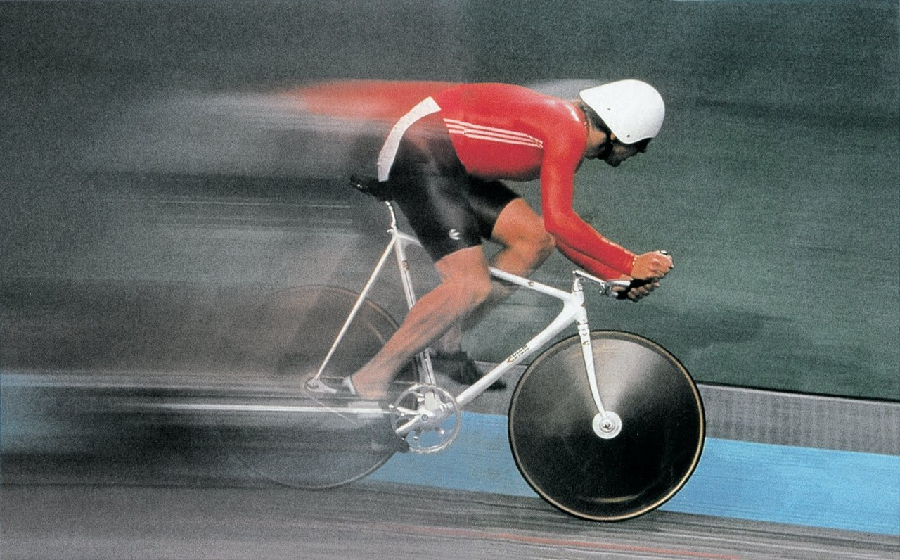 Umaras Gintautas (URSS), gold medal individual pursuit at Seul '88 Olympic games.