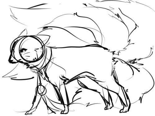 (( quick doodle of fox!ahri. you can ask fox ahri stuff too if you want loll ))