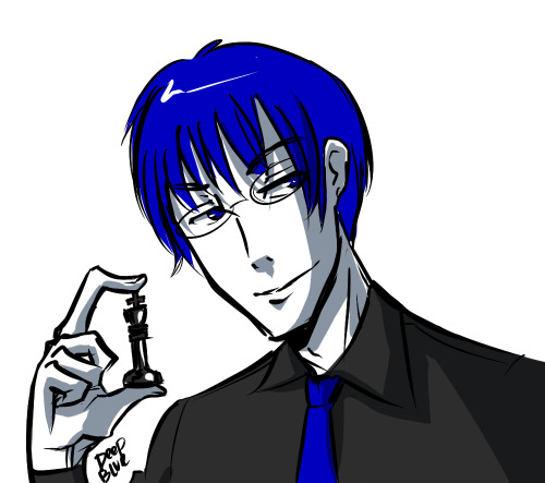 HERE HAVE A DEEP BLUE. He isn't doing much other than looking pretty, but I have a couple asks in my inbox for him. So.
